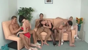 Three horny ladies are in bed with one guy, because they want to satisfy him
