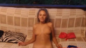 Pigtailed blonde babe is seducing her step- dad because she wants to make him cum