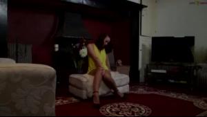 Delicious lingerie vixen fingering her snatch